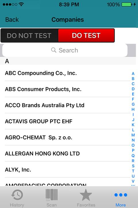 Companies Do Test